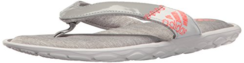Adidas Dames Anyanda Flex Yw Atletisch Sandaal Medium Grijs Flecked / Easy Coral / White