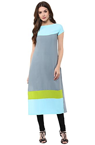 Janasya-Womens-Multi-Color-Casual-Crepe-Kurti