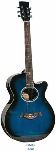Guitarra acústica Academy CA05CE Azul: Amazon.es: Instrumentos ...