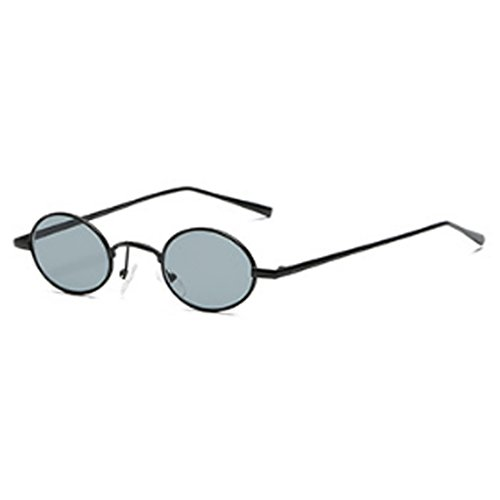 Glasses Small estrecho Frame Sunglasses para Small Oval Yefree Oscuro Retro Moda hombres Gris Mujeres Vintage w4zn1qC