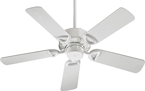 Quorum International 143425-6 Estate Patio Ceiling Fan with White ABS Blades, 42-Inch, Gloss White - Quorum Estate Patio