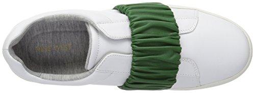 Nine West Kvinners Pindiviah Skinn Sneaker Hvit / Grønn Skinn