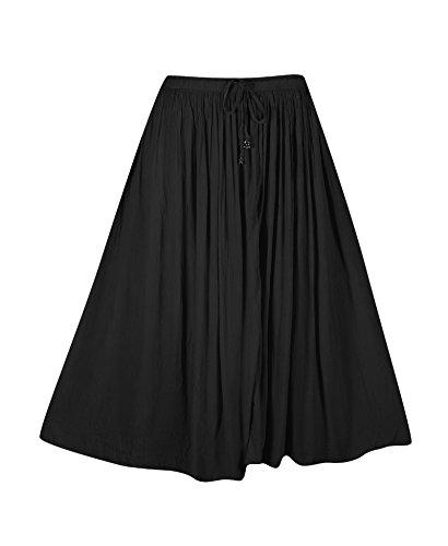 Plus Size Black Crinkle Gauze Skirt --Size: one size Color: (Crinkle Gauze Skirt)
