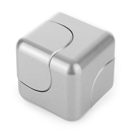 Price comparison product image Vteyes Fidget Spinner Cube Design 2017 Newest Spinner Made Premium Metal Stainless Steel Detachable Bearings Stress Reliever Toy and Gift for Kids and Adults, Silver