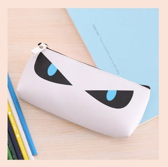 Korean Cartoon Cute Meow Star Pen Bag Sell Lots of Cats' Eyes Stationery Bags Water Resistance Pen Pencil Case School Supplies Test Items (White)