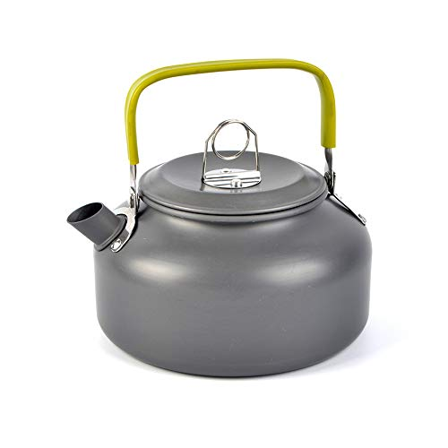 Yilan Trade Aluminium Camping Tea Pot 0.8L Coffee Kettle Outdoor Backpacking Camp Travel Portable Compact Lightweight Water Kettle with Silicon Handle