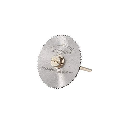 6PCS HSS Hoja de sierra circular Herramienta giratoria 22//25//32//35//44 mm Discos de corte de madera Taladro mandril para cortador de metal-Plata