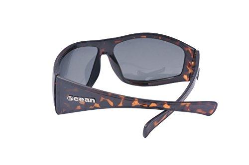 Ocean Sunglasses - Waikiki - lunettes de soleil polarisées  - Monture : Marron - Verres : Fumée (14100.2)