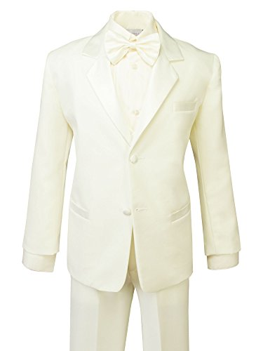 Spring Notion Boys' Classic Fit Tuxedo Set, No Tail 16 Ivory