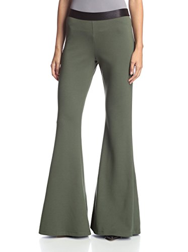 S.H.E. Soul Harmony Energy Women's Ponte Flare Pants, Olive, S