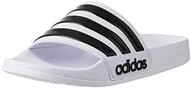 adidas Men's CF Adilette Shoes, Footwear White/Core Black/Footwear White, 4 US (4 AU)