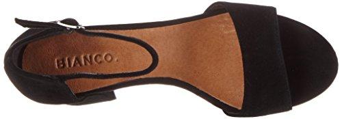 Bianco Jfm17 Suede Mujer Sandalias Sandal negro Zw6rSxZq
