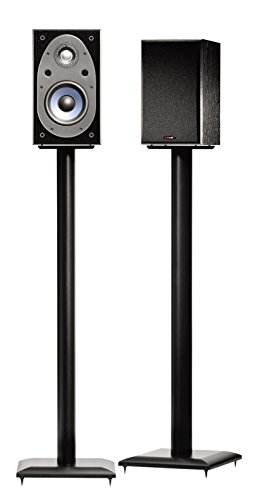 Sanus Natural Foundations 36 Inch Speaker Stands, Pair (Black) - NF36B by Sanus