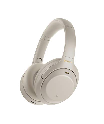 Sony WH-1000XM4 Wireless Noise Cancelling Bluetooth Over-Ear Headphones With Speak to Chat Function and Mic For Phone Call, Silver