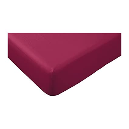 Ikea sábana bajera guldax sábana 160 x 200 cm color morado/lila - Banda de goma - adecuado para colchones de banda de hasta 25 cm - 100% algodón - Sábana de ...