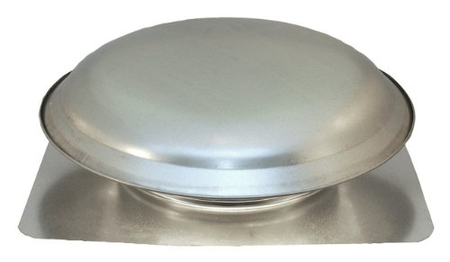- Cool Attic CX4000AM Power Roof Galvanized Steel Vent Dome with 5.1 Amp PSC Motor, Mill