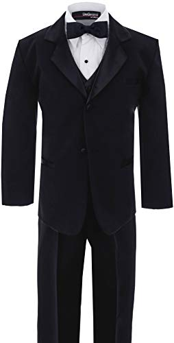 Big Boy's Usher Tuxedo Suit No Tail G210 (8, Black) -