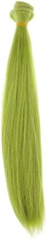CUTICATE 人形かつら ヘアウィッグ ストレートヘアピース BJD人形用 DIY アクセサリー 全16色 - グリーン