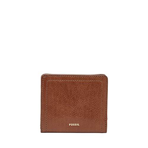 Fossil Women's Logan Leather Bifold Wallet, Brown