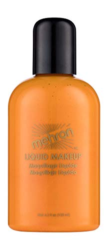 Mehron Liquid Face Paints – Orange O (4.5 oz)
