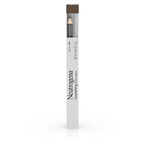 Neutrogena Nourishing Eyebrow Pencil with Spoolie Brush, 2-In-1 Filler In Shade Brown 30, 0.04 Ounce (Pack of 2)