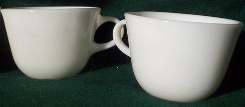 Pyrex Corning White Mug Cup Tableware Pair