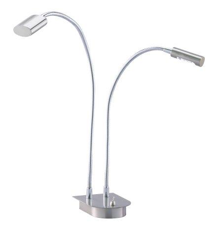 Adesso 5032-22 Eternity Double Gooseneck Desk Lamp, 2-lights, Smart Outlet Compatible, 5