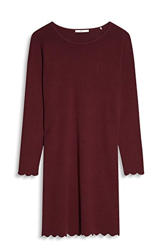 ESPRIT edc Kleid Bordeaux Damen Red by 600 Rot ZqZrwx5t