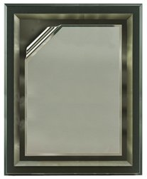 11 x 14 Grey Mirror Plaque Engraved with Grey Rolled Plate on Charcoal Wood by Gino's Awards Inc