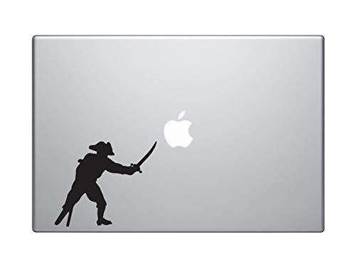 Captain Peg Leg - BYRON HOYLE Swashbuckler Pirate Crew - Captain Peg-Leg Sword Cutlass - MacBook Vinyl Sticker Decal Mac Apple Laptop iPad