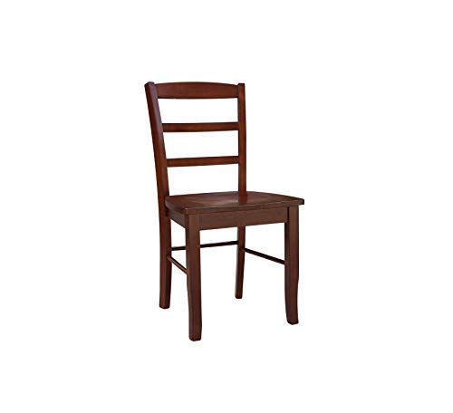 Wood & Style Furniture Madrid Ladder Back Chair, Espresso Home Office Commerial Heavy Duty Strong - Chair Madrid Office