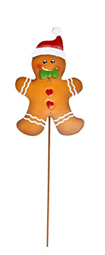 Worth Imports 8837RW  Christmas gingerbread Man on Stakes, Metal, 14-Inch
