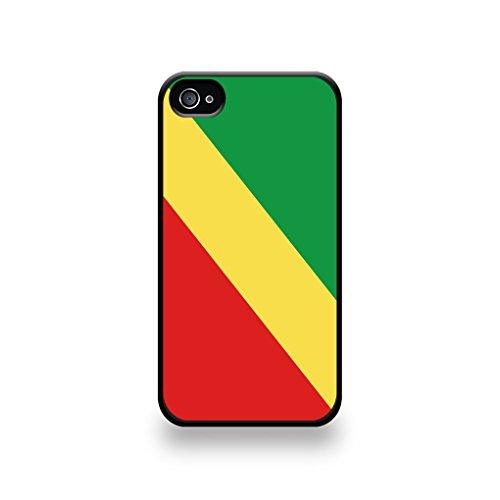 LD coqip4_43 Case Schutzhülle für iPhone 4/4S, Motiv Flagge Kongo (Brazzaville
