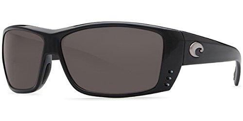 Costa Del Mar Cat Cay Sunglasses, Black, Gray 580Plastic Lens