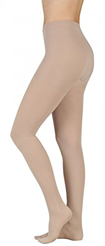 Juzo 2002ATFFFL53 II Soft 30-40 mmHg Full Toe Pantyhose Standard Compression Stockings with Fly - Chocolate44; II - Small by Juzo