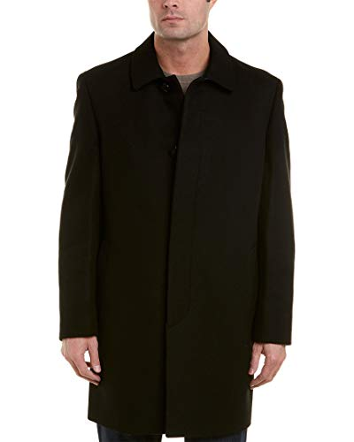 Hart Schaffner Marx Men's Topper Dress Wool Top Coat, Black, 42R
