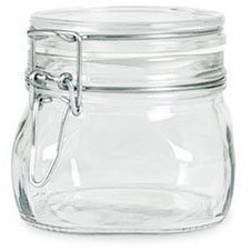 Bormioli Rocco Fido Italian Glass Facet Storage Canning Jars -.5 Liter
