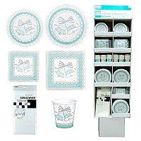 WEDDING BRIDAL PARTY SUPPLY BUNDLE includes (288 plates 9'') and ( 192 Plates 7'' - 36 plastic table cover - 144 cups 9oz- 720 napkins 13'' and 360 napkins 10'' by Partyware