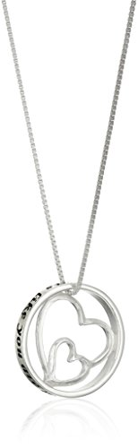 "Sterling Silver Double-Heart ""Aunts Like You"" Pendant Necklace, 18"""