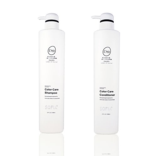 (ODE SOFIA Color Care Shampoo and Conditioner,for women, men and teens, used for chemically treated of coloured hair and all hair types, 23Fl OZ, 680ml (Set of Shampoo and Conditioner))