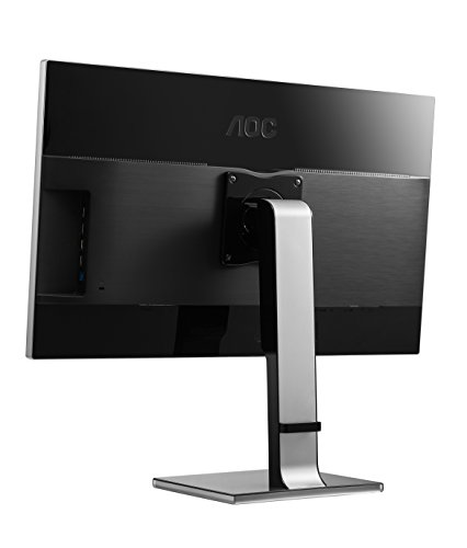 AOC U2777PQU 27-Inch Class IPS 4K LED Monitor, 3840 x 2160, 350sd/m2, 5ms, 50M:1, VGA, DVI, DP, HDMI, USB, SPK, HA