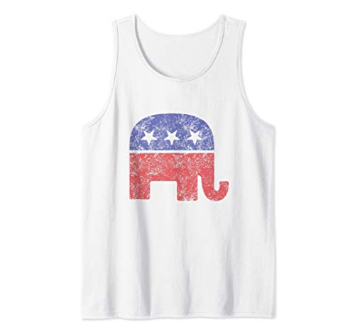 Republican Elephant Vintage Logo Tank Top