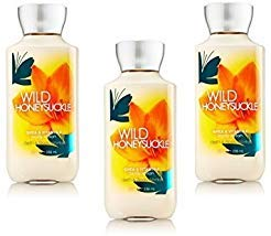 Bath and Body Works Signature Collection Wild Honeysuckle Body Lotion Pack of ()