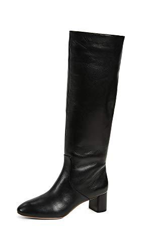 Gia Randall Boot Mid Tall Black Heel Almond Toe Women's Loeffler wEdU4qSS