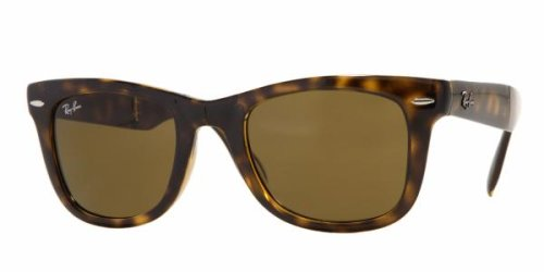Ray-Ban Mens Folding Wayfarer Non-Polarized Square Sunglasses, Light Havana, 54 - Polarized Ban Rb4105 Ray