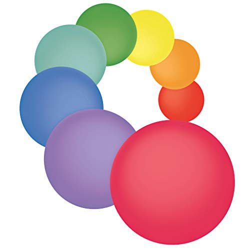 Dry Erase Dots 8 Pieces - White Board Marker Removable Vinyl Circles Sticker (11 inch) - Perfect for classrooms, offices, and home - SylkyClover