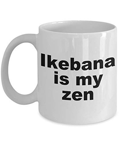 Ikebana Mug Is My Zen Coffee Cup Japanese Art of Flower Arranging Gift Idea For Her Ceramic White