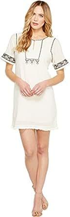 Lilla P Women's Embroidered Dress Canvas Dress