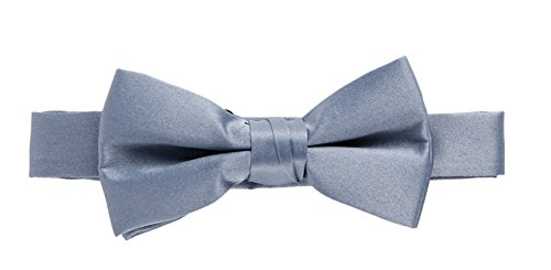 Peach Sportoli Kids and Baby Adjustable Solid Color Banded Satin Pre-tied Tux Bow Tie