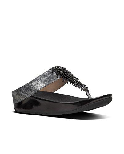 Fitflop Cha Cha Toe Sand-Shimmer Pr - Sandalias de Mujer EN Color Metálico
